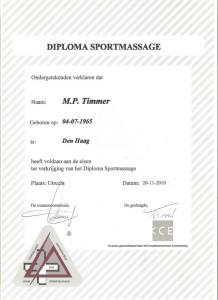 Diploma (sport-)massage
